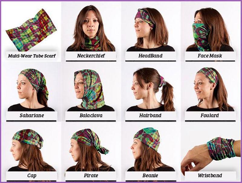 Different Ways of Wearing a Custom Bandana