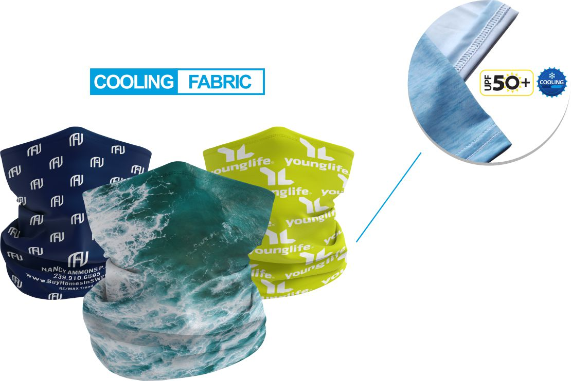 how does a cooling neck gaiter work